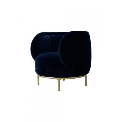 VIG Furniture - Divani Casa Eckley - Blue Velvet Accent Chair