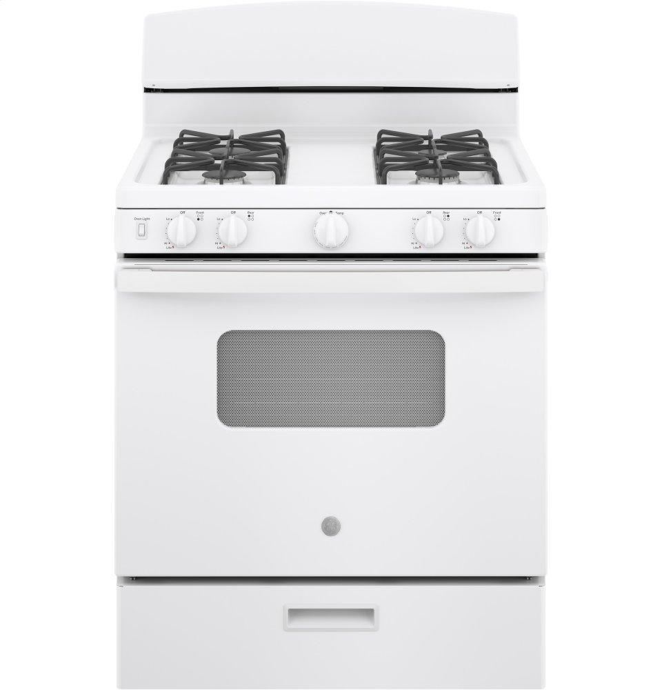 """GE30"""" Free-Standing Front Control Gas Range"""