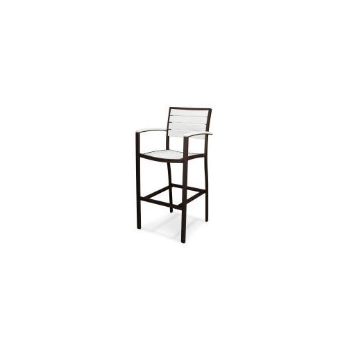 Polywood Furnishings - Eurou2122 Bar Arm Chair in Textured Bronze / White