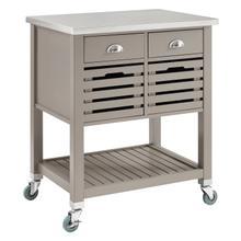Robbin Wood Kitchen Cart Gray