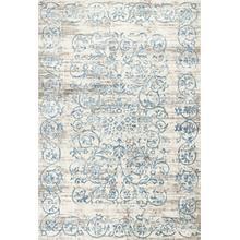 "Crete 6503 Ivory/blue Courtyard 2'2"" X 6'11"" Runner"