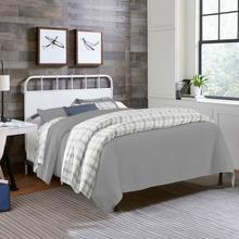 View Product - Grayson Full/queen Metal Headboard With Frame, Textured White