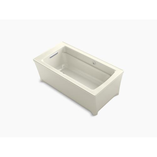 """Biscuit 62"""" X 32"""" Freestanding Bath With Bask Heated Surface"""