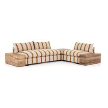 W/ Corner + End Table Configuration Zella Amber Cover Grant Sectional W/ Chair + Tables