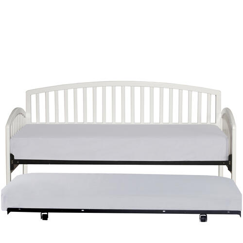 Carolina Complete Twin Size Daybed With Trundle, White