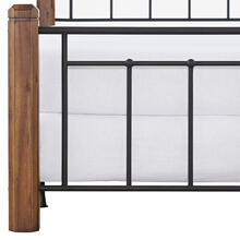Fulton King Bed, Textured Black