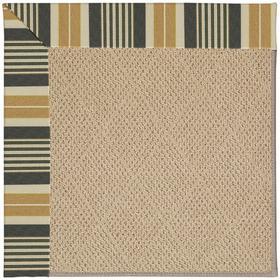 "Creative Concepts-Cane Wicker Long Hill Ebony - Rectangle - 24"" x 36"""
