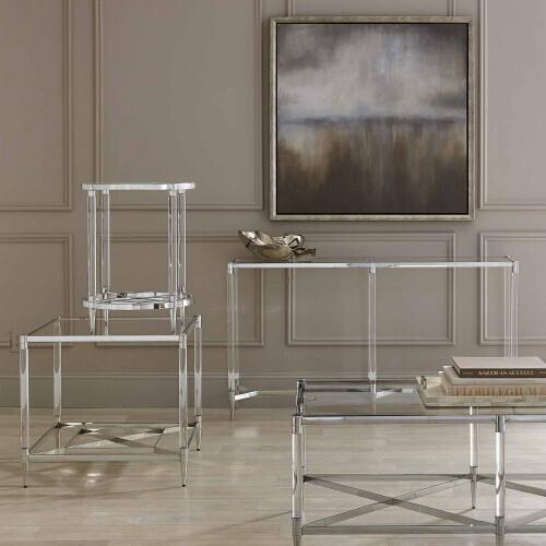 Bernhardt - Celine Metal Rectangular Cocktail Table