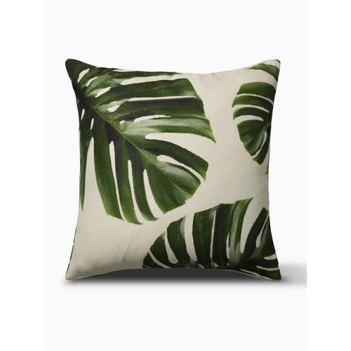 """Fab Habitat - Palm Leaves Indoor Outdoor Decorative Pillow - Green (20"""" x 20"""")"""