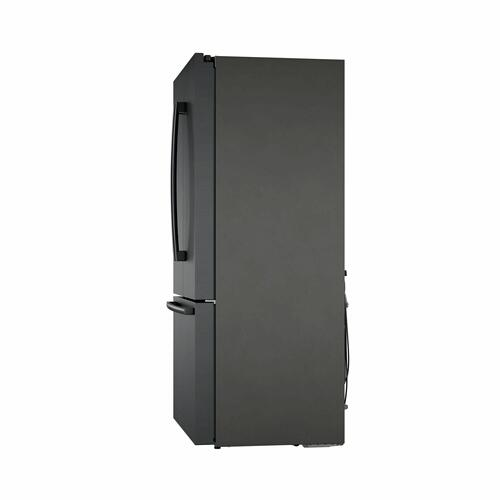 800 Series French Door Bottom Mount Refrigerator Black stainless steel B36CT80SNB