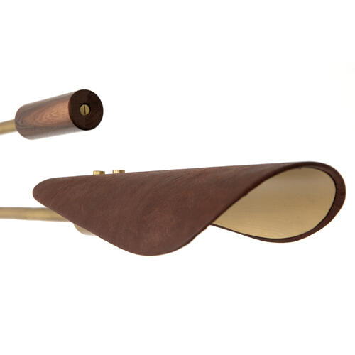 Astrid Chandelier-dark Brown Leather