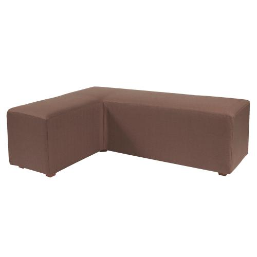 L Ottoman Cover Sterling Chocolate (Cover Only)