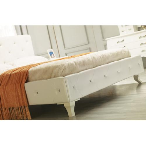 VIG Furniture - Modrest Monte Carlo Modern Leatherette Twin Bed with Crystals