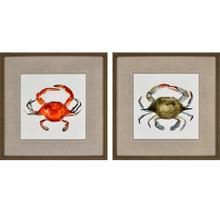 Watercolor Crab S/2