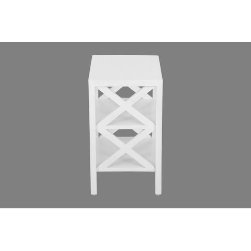 Dylan X Side Accent Table - White