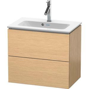 Vanity Unit Wall-mounted Compact, Brushed Oak (real Wood Veneer)