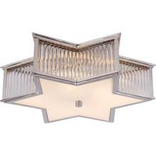 View Product - Alexa Hampton Sophia 3 Light 17 inch Polished Nickel with Clear Glass Flush Mount Ceiling Light in Polished Nickel and Crystal