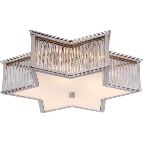 Visual Comfort - Alexa Hampton Sophia 3 Light 17 inch Polished Nickel with Clear Glass Flush Mount Ceiling Light in Polished Nickel and Crystal