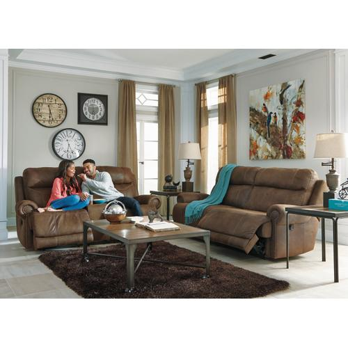 Austere 2 Seat Reclining Sofa Brown
