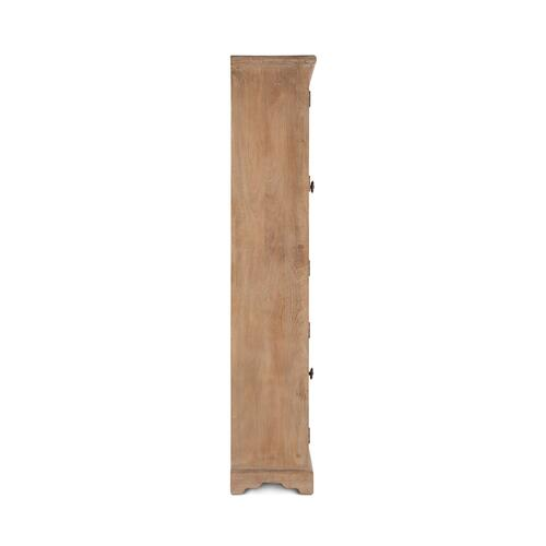 "San Rafael 38"" Wide Glass Cabinet Antique Oak"
