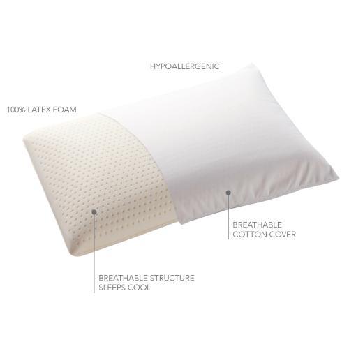 Sleep Plush Latex Foam Pillow, Standard / Queen