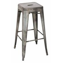 "ACME Kiara Bar Stool (Set-2) - 96251 - Antique Silver - 30"" Seat Height"