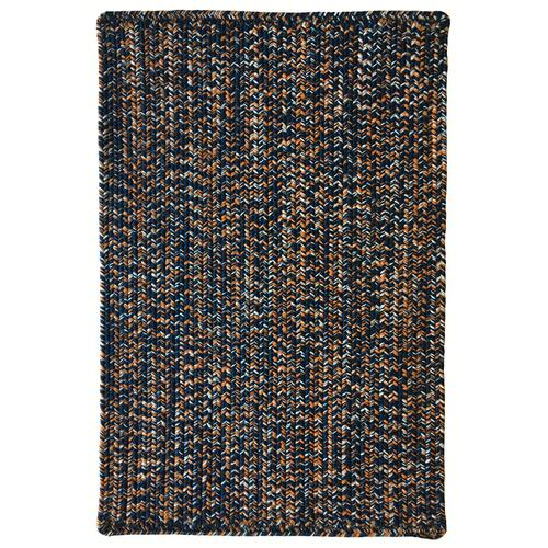 Team Spirit Navy Burnt Orange Braided Rugs