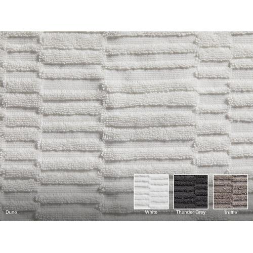"White Hand Towel With Tatami Weave, 18"" X 30"""