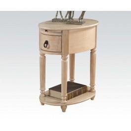 Acme Furniture Inc - White Washed Side Table