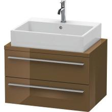 Vanity Unit For Console Compact, Olive Brown High Gloss (lacquer)