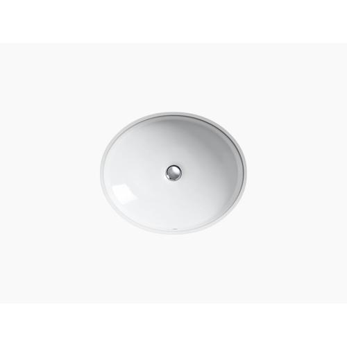 White Undermount Bathroom Sink