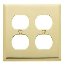 See Details - Polished Brass Beveled Edge Double Duplex