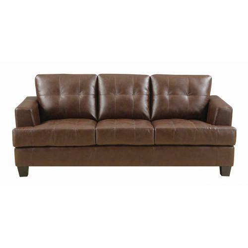 Coaster - Samuel Transitional Dark Brown Sofa