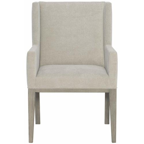 Linea Upholstered Arm Chair in Cerused Greige (384)