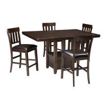 View Product - Haddigan - Dark Brown 5 Piece Dining Room Set