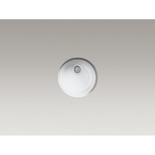 "Ice Grey 18-3/8"" Diameter X 8-5/16"" Top-mount/undermount Bar Sink"