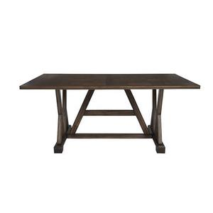 Dining Table - Walnut Brown Finish