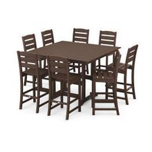 View Product - Lakeside 9-Piece Bar Side Chair Set in Mahogany