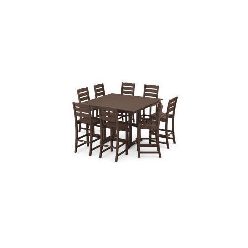 Polywood Furnishings - Lakeside 9-Piece Bar Side Chair Set in Mahogany