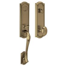 View Product - Satin Brass and Black Bethpage Handleset