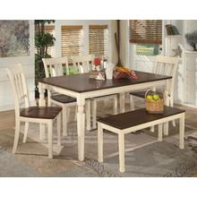 See Details - Whitesburg - Brown/Cottage White 6 Piece Dining Room Set