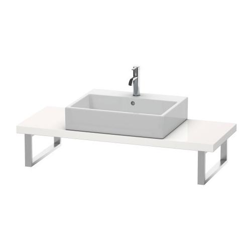 Console For Above-counter Basin And Vanity Basin Compact, White High Gloss (decor)