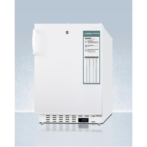 Built-in Undercounter ADA Compliant +2°c To +8°c Commercially Approved All-refrigerator In White With Lock, Digital Controls, Wire Shelving, Hospital Cord With 'green Dot' Plug, Factory Installed Access Port, and Automatic Defrost Operation