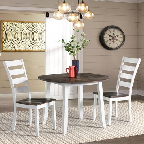 Gallery - Kona Drop Leaf Table  Gray and White