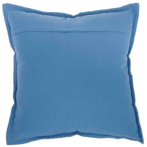 "Life Styles Az009 Blue 18"" X 18"" Throw Pillow"