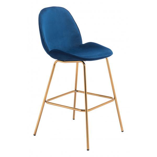 Siena Bar Chair Blue & Gold