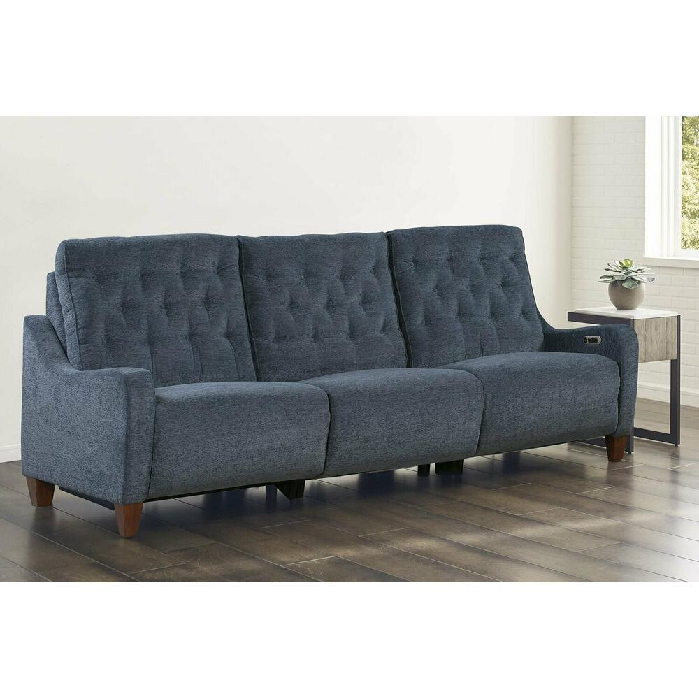 CHELSEA - WILLOW BLUE Power Triple Reclining Sofa (811LP, 810P, 811RP)