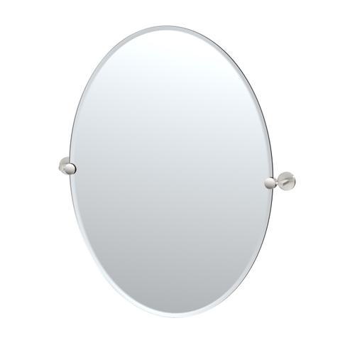 Sky Oval Mirror in Satin Nickel
