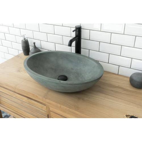 Caspar Large Oval Vessel - Dusk Gray