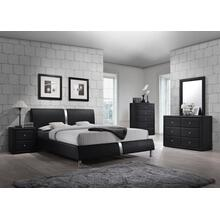 Enzo Black Queen Headboard